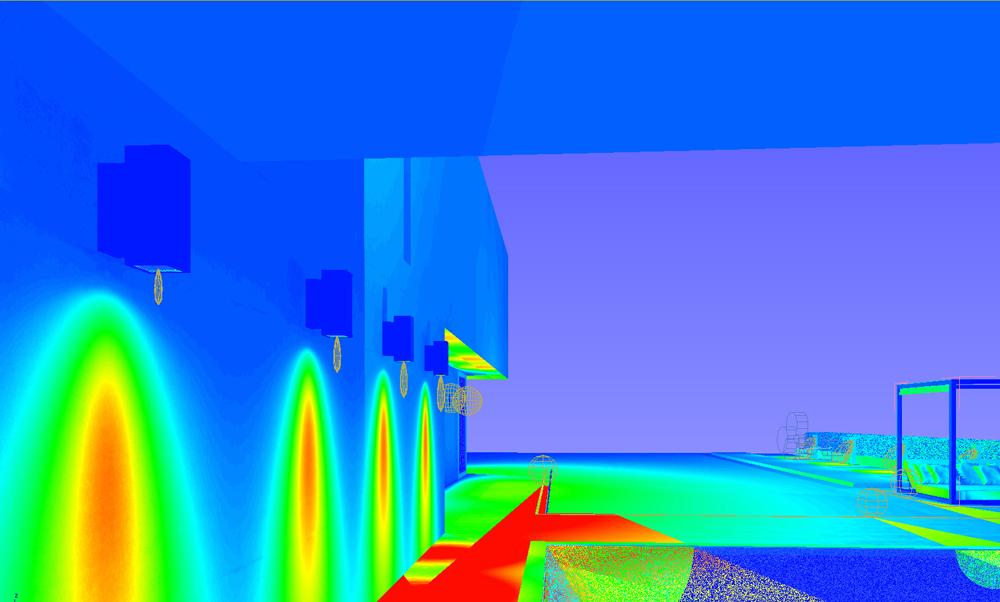 False colors simulation